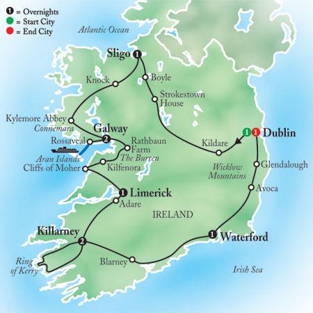 Dingle Ireland Map on
