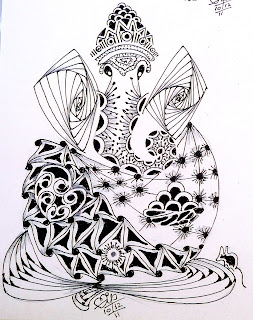 Displaying 20> Images For - Ganesh Head Drawing...