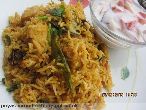 Tamil style chicken biryani recipe