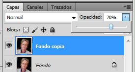 Photoshop: opacidad capas