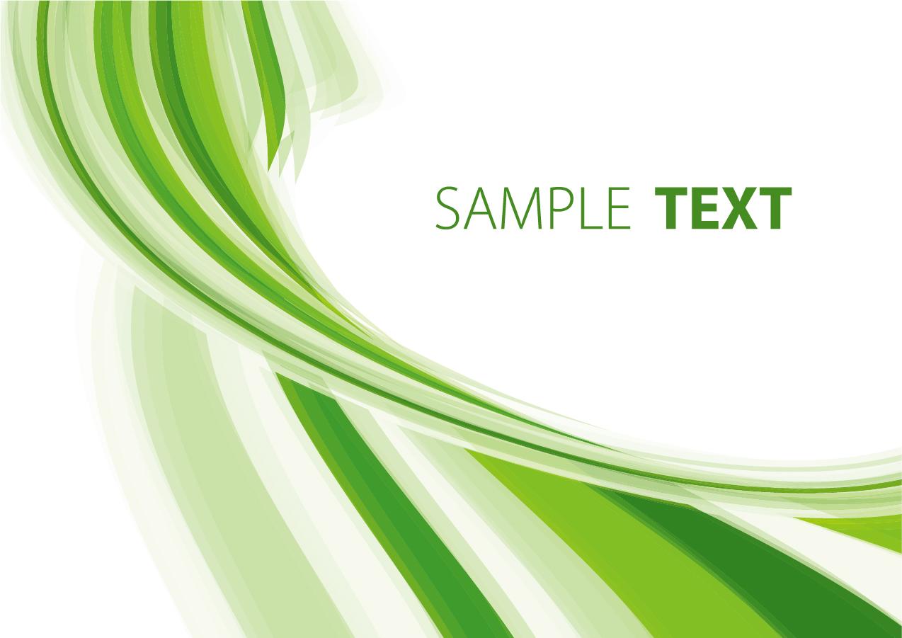 緑の曲線の背景 Green Abstract Background イラスト素材
