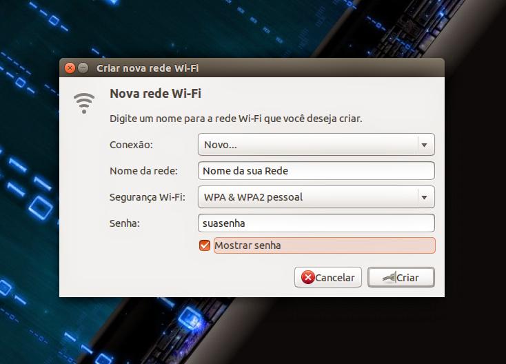 Criando uma rede Wi-Fi