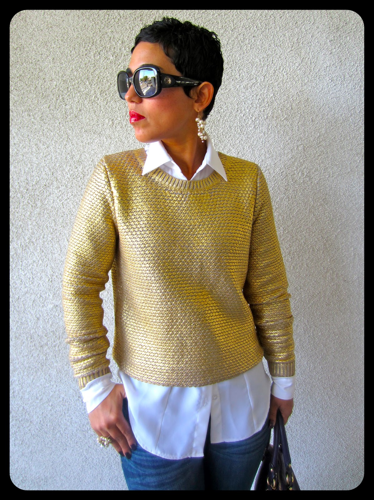 What I Wore | Gold Sweater |Fashion, Lifestyle, and DIY