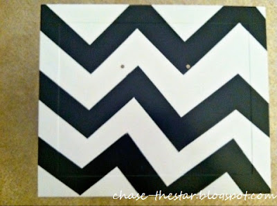 http://www.chasethestar.net, metal file, file cabinet, chevron, teal, black and white, makeover, diy