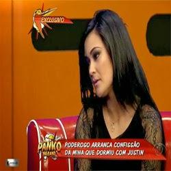 """Não sou do mal"""", diz Tati Neves, a modelo que filmou Justin Bieber dormindo, ao 'Pânico na Band'"""