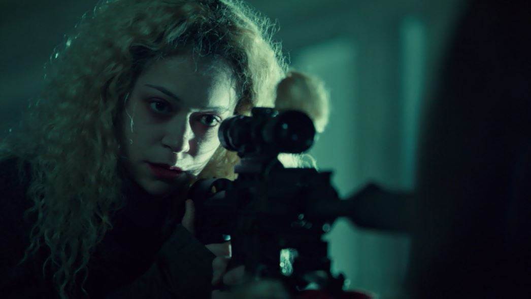Helena with sniper rifle