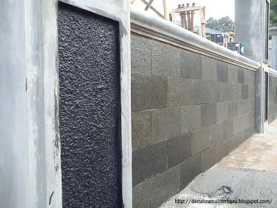 Pagar Rumah Tembok Batu Alam Kotak