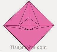 Bước 15: Hoàn thành cách xếp con quay kỳ ảo bằng giấy đơn giản