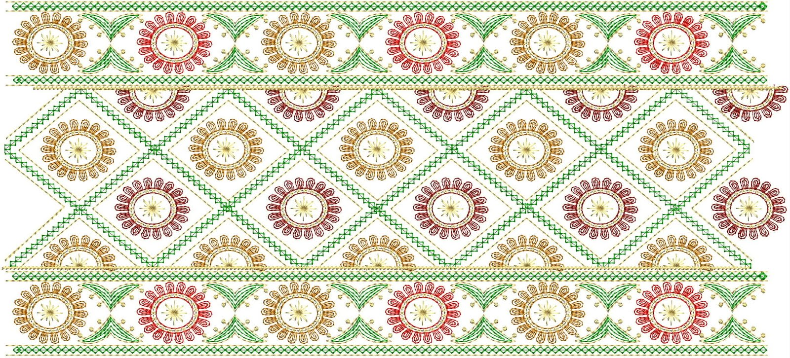 Embroidery Designs  33  Emb Lace Border