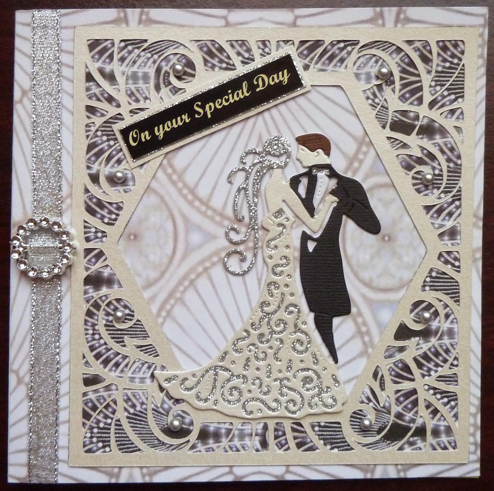 The Arty Parrot: Art Deco wedding card