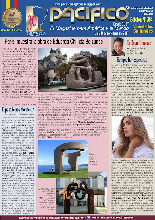 Revista Pacífico Nº 354 Variedades Culturales