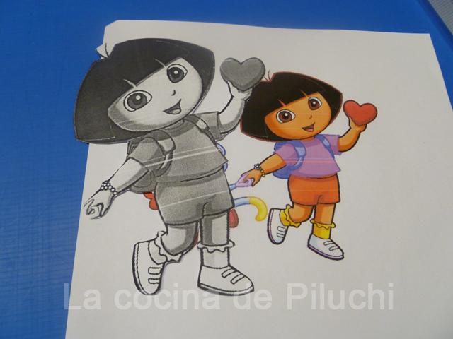 La cocina de piluchi paso a paso tarta dora exploradora - Dora la exploradora cocina ...
