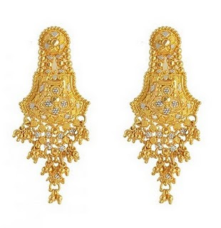 new brands wedding bridal gold earrings