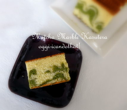 I Can Do That!: Green Tea Marble Kasutera