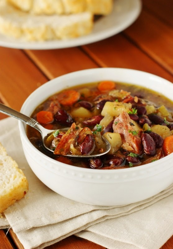 Slow Cooker Ham & Kidney Bean Soup