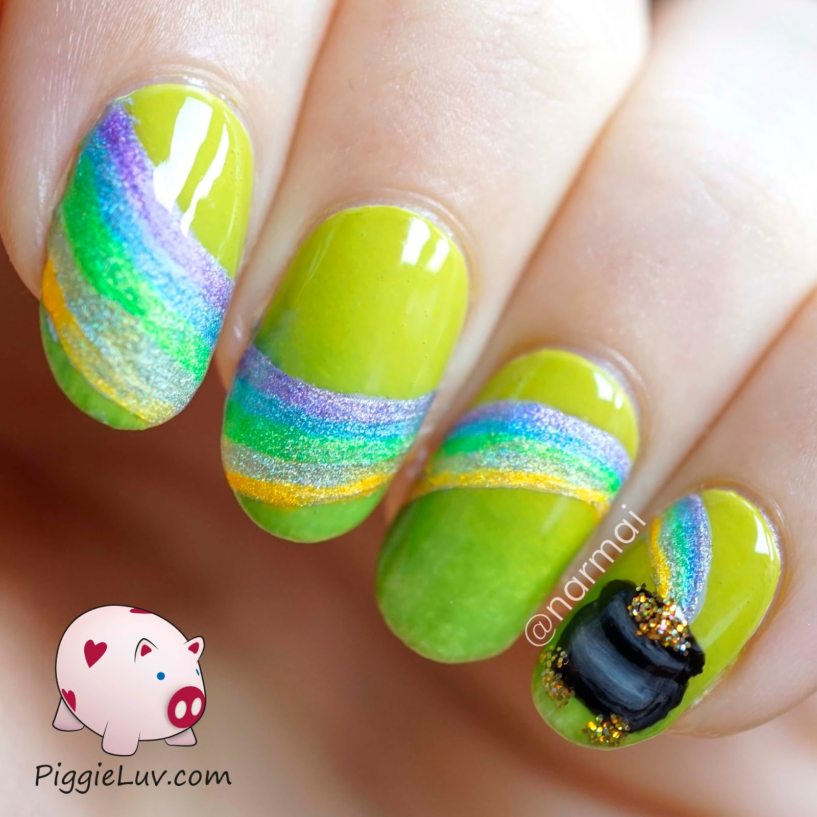 Piggieluv St Patricks Day Nail Art Hpb Linkup