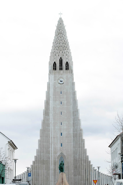 Hallgrimskirkja - the beautiful cathedral in Reykjavik