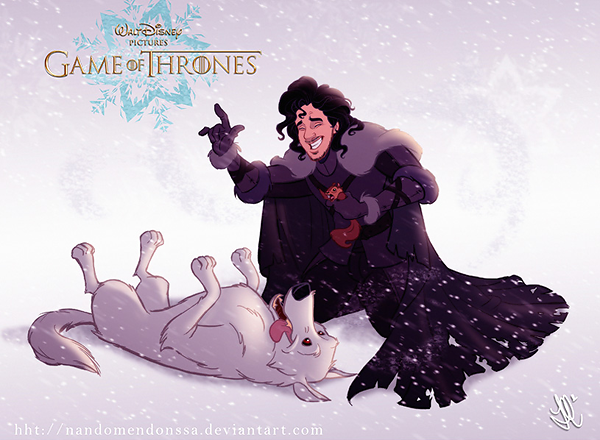 GoT/Disney Mash-Up of John Snow and Ghost