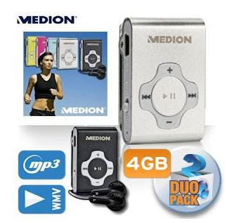 Doppelpack MP3-Player: 2 mal 4 GB Medion Life E60032 für 25,90 Euro bei iBood