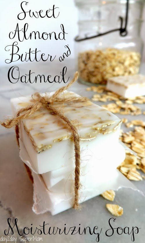 almond butter oatmeal homemade soap