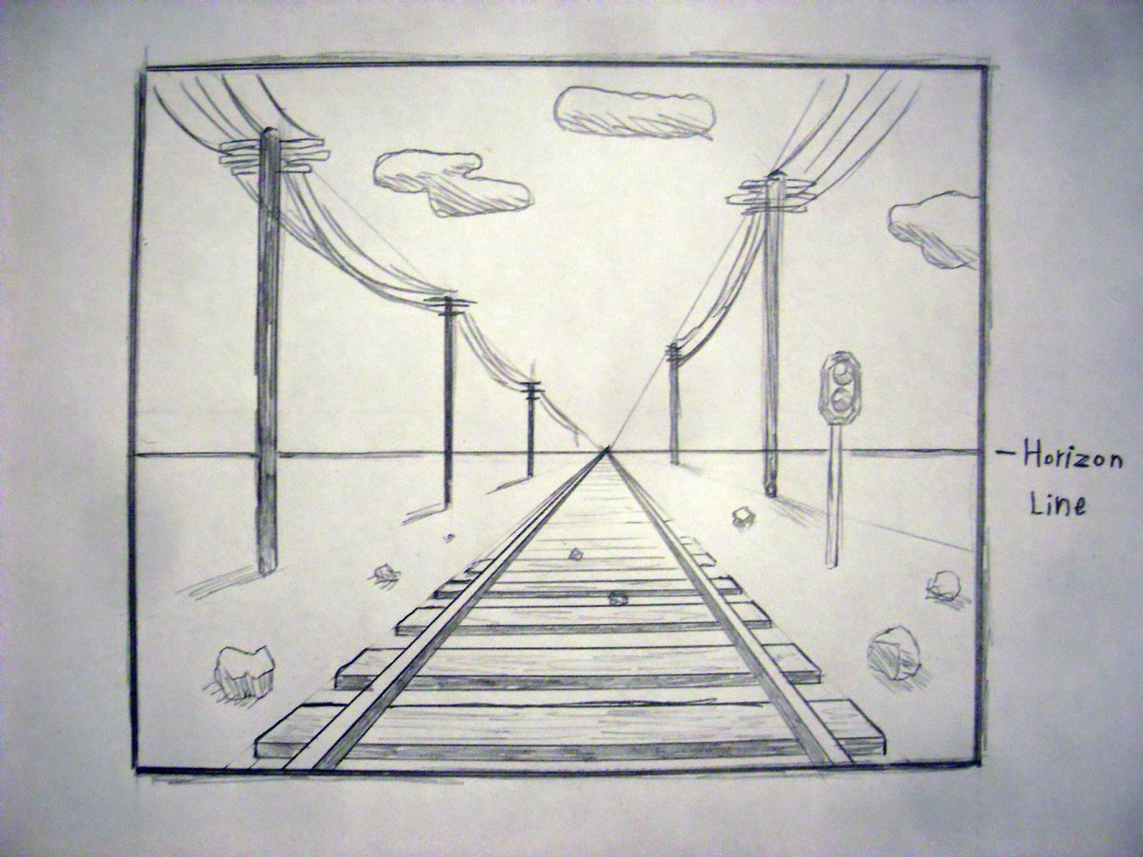 Cool One Point Perspective Drawings You have a drawing in ONE