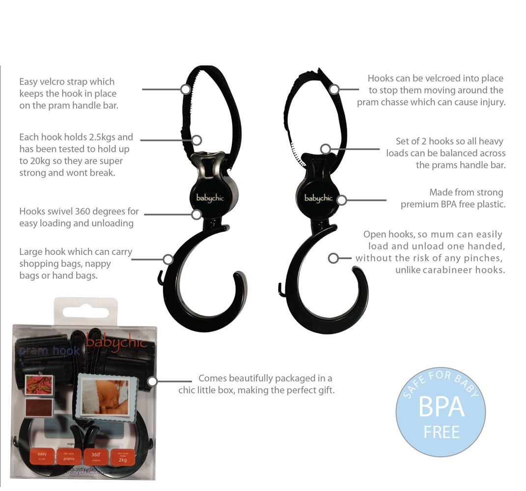 babychic, babychic buggy accessories, babychic review, pram hooks