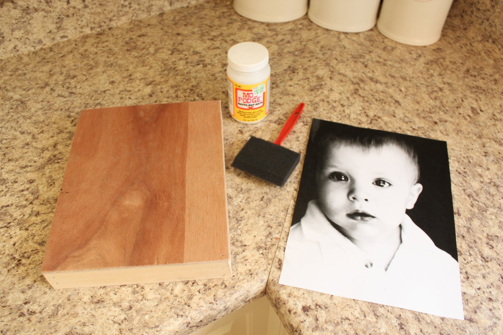 Not so homemade guest post love of family home mod for Diy using mod podge