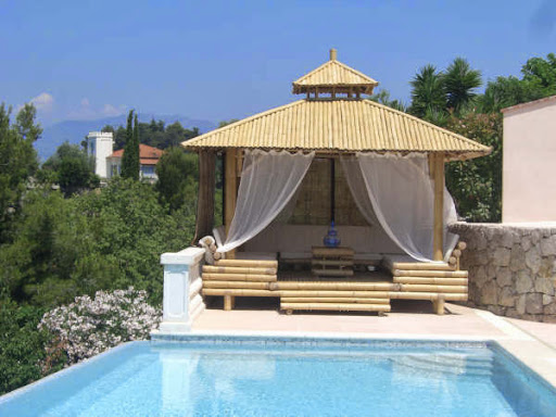 Combining pool and gazebo in the backyard for Pool design with gazebo