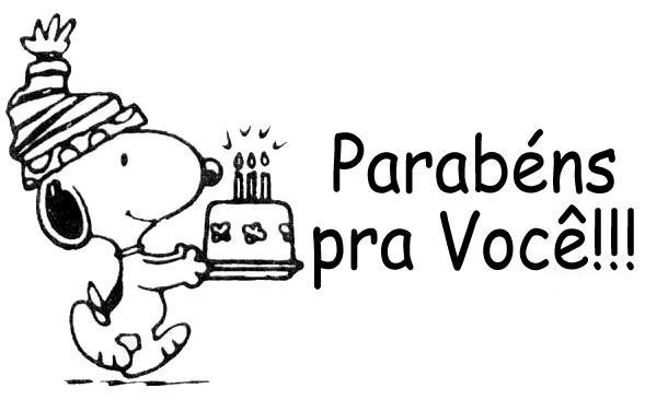 Snoopy Parabéns