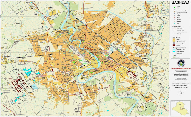 More detailed city map Baghdad image from Iraq.