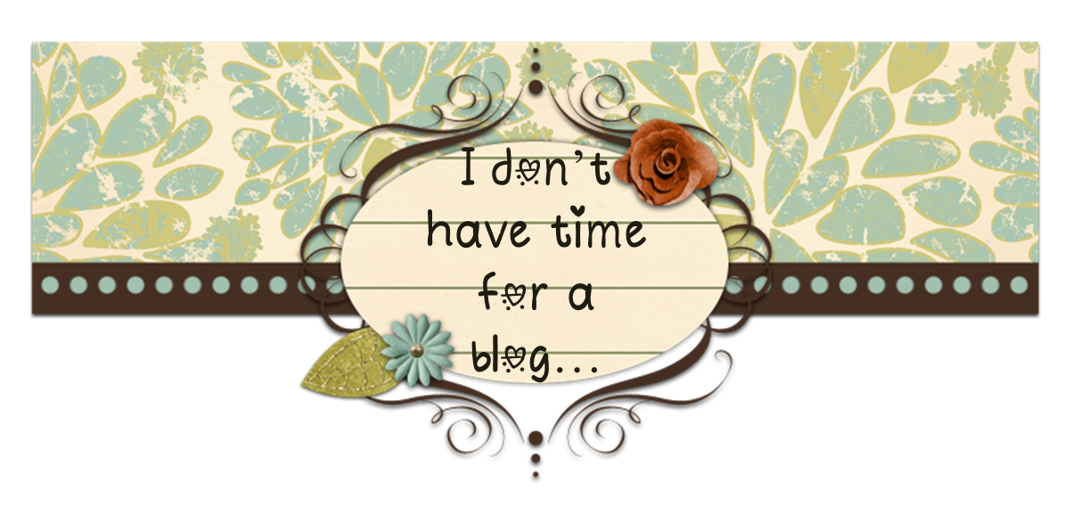 I don't have time for a blog...