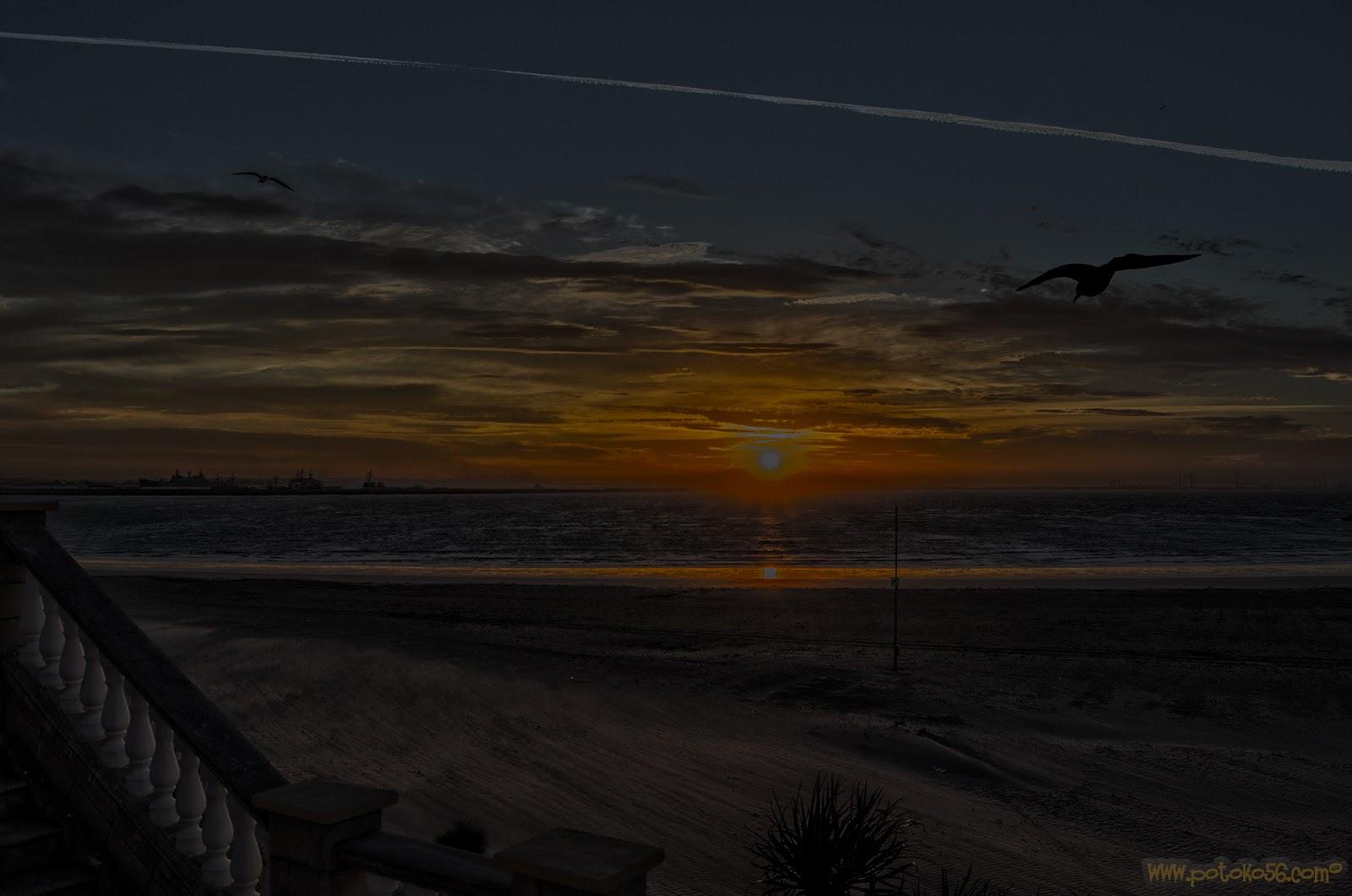 Playa del chorrillo amaneciendo hoy 27-12-2015