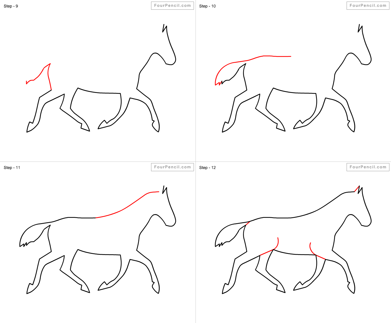How To Draw A Horse Step By Step For Kids Easy Cougfan