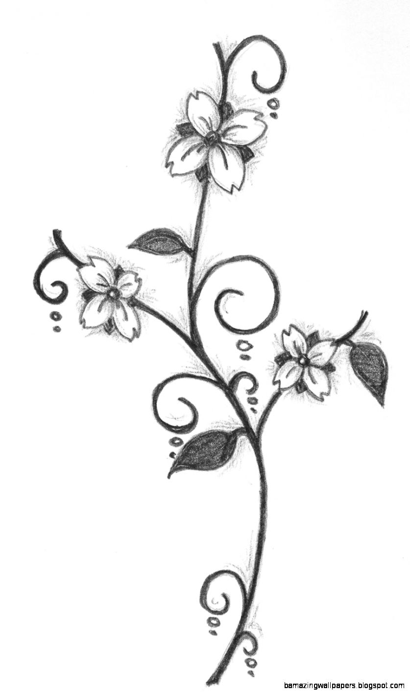 Free download Simple Flower Designs Pencil Drawing Flower design