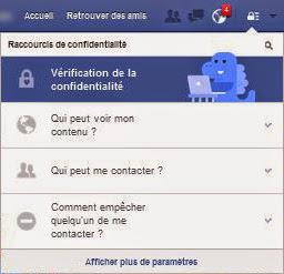 """""""Vérification de la confidentialité"""" sur Facebook"""