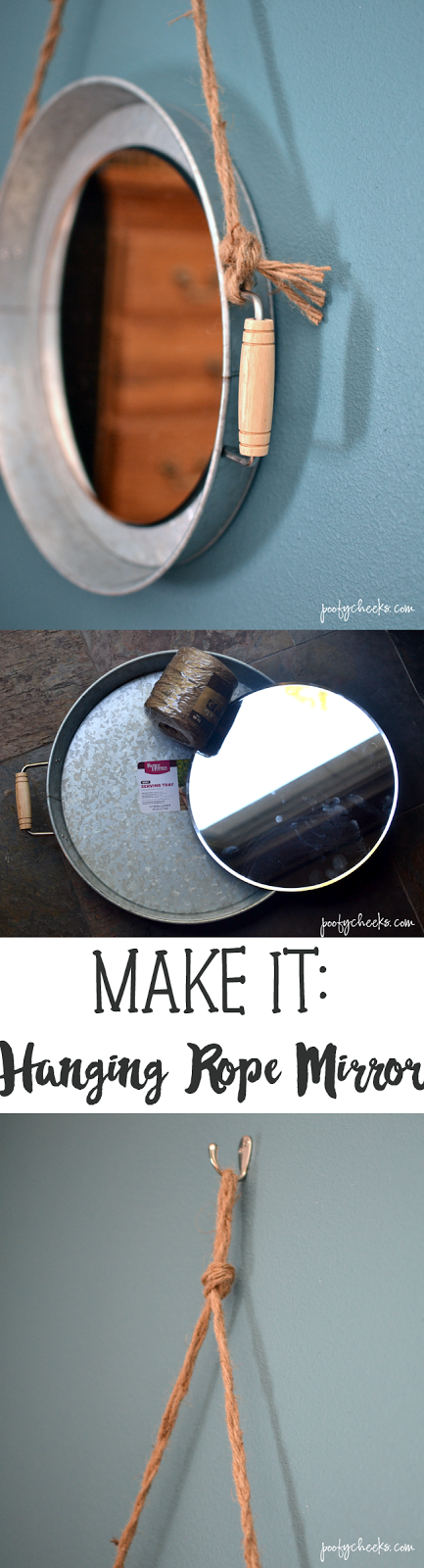 Make It Yourself - DIY Hanging Mirrors using Walmart Trays