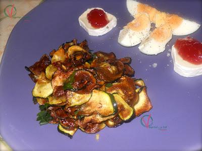 Calabacín frito en vinagre