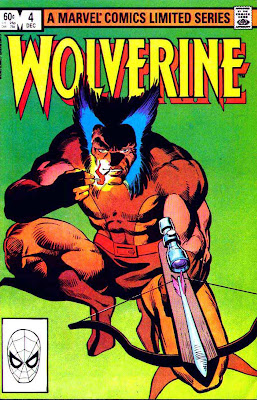 Wolverine v1 #4 marvel comic book cover art by Frank Miller