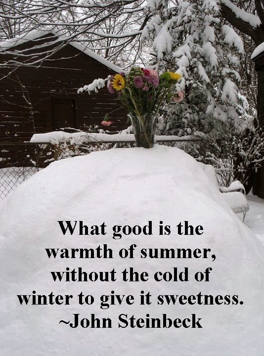 the cold of winter to give it sweetness  More Than Sayings