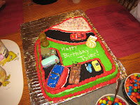 cake decorated like cars race track