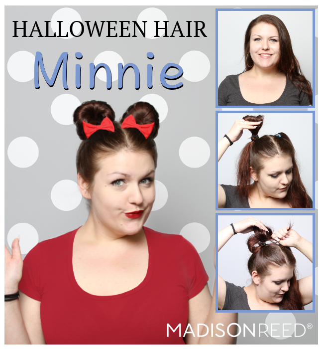 Madison Reed Halloween Hair Idea Minnie Mouse