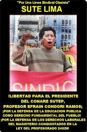 LIBERTAD PARA EL PROF. EFRIAN CONDORI RAMOS PRESIDENTE DEL CONARE SUTEP ENCARCELADO INJUSTAMENTE