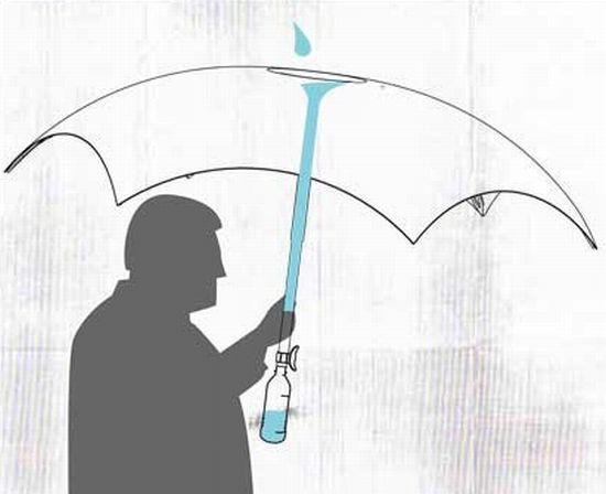 Filterbrella: guarda-chuva com filtro d'água