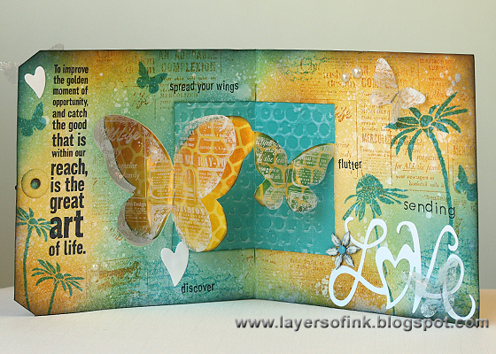 Butterfly Window Card - Layers of ink