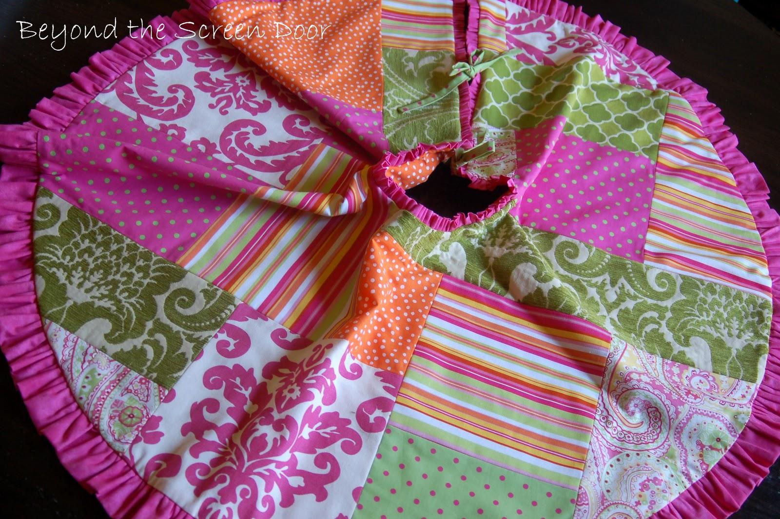 Multi fabric tree skirt sonya hamilton designs