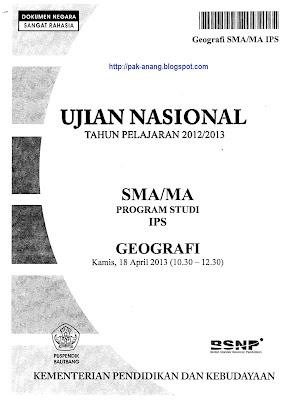 Naskah Soal Un Geografi Sma 2013 Paket 1 1xdeui