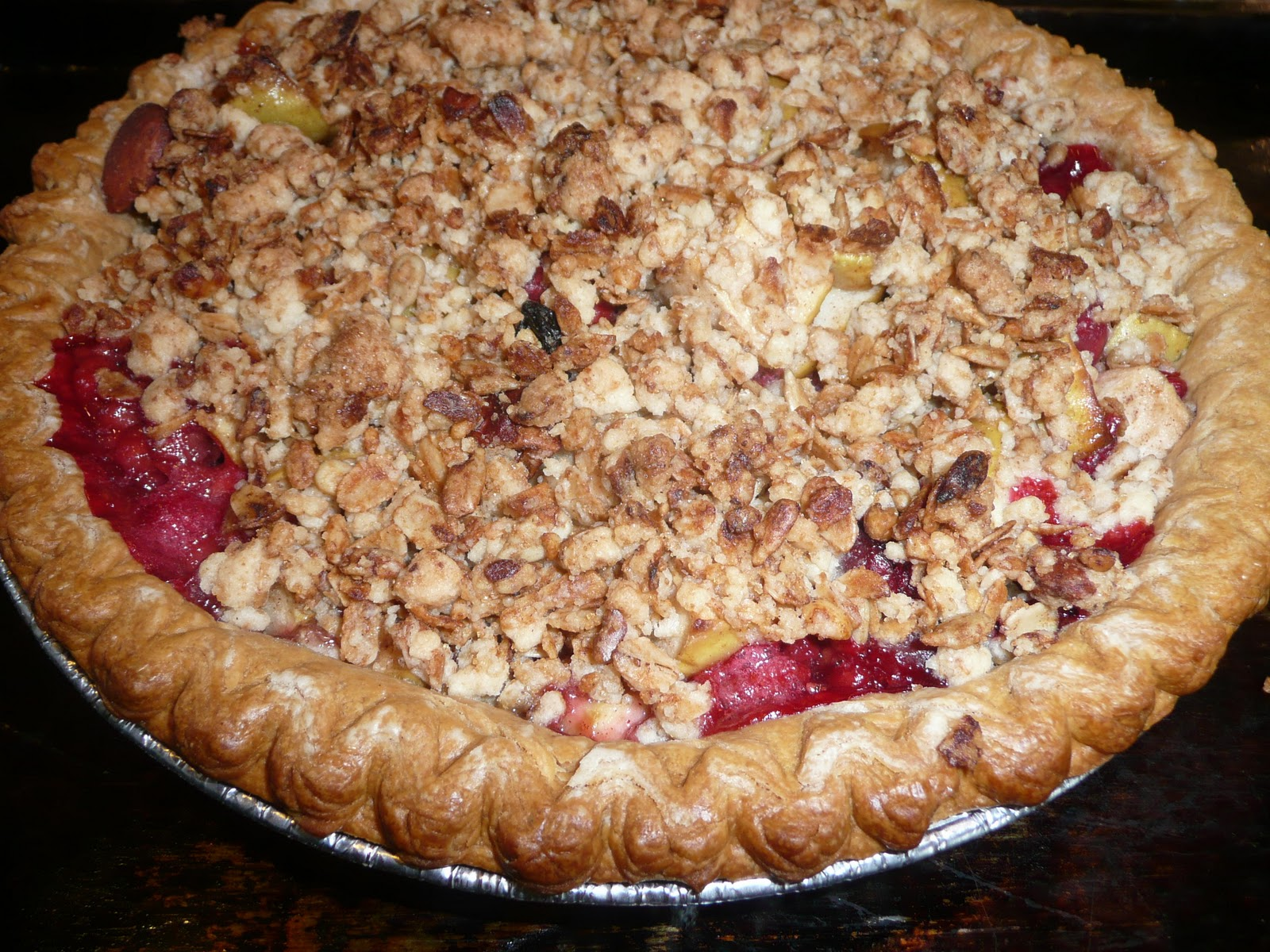 Apple-Cranberry Pie with Granola Streusel