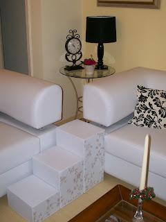 escadas para sofá