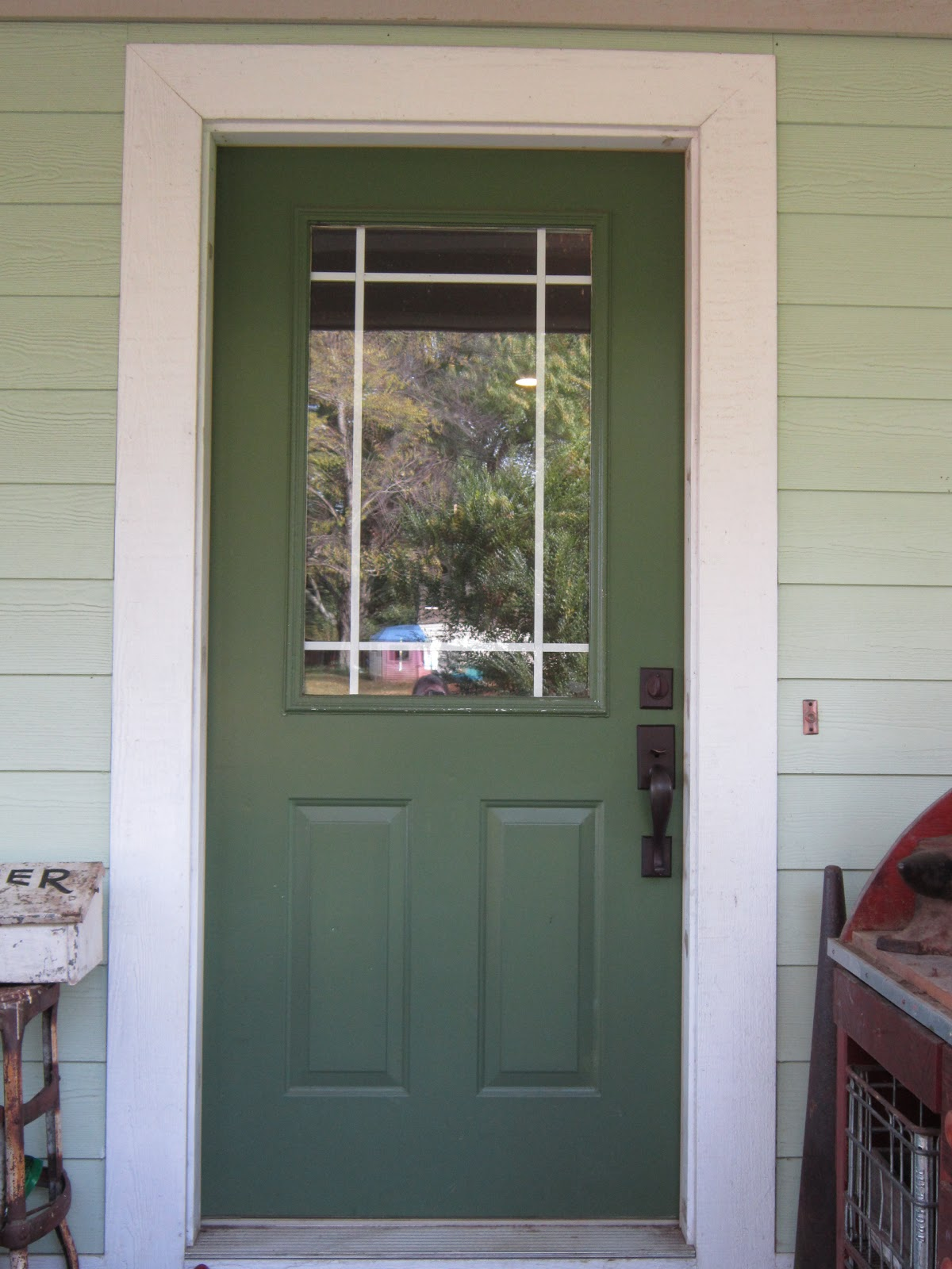 1600 #5F4140 Tamer We Ended Up With A Dark Green Front Door save image Green Front Doors 47971200