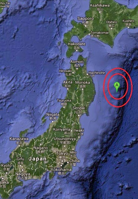 Magnitude 5.3 Earthquake of Miyako, Japan 2014-10-03
